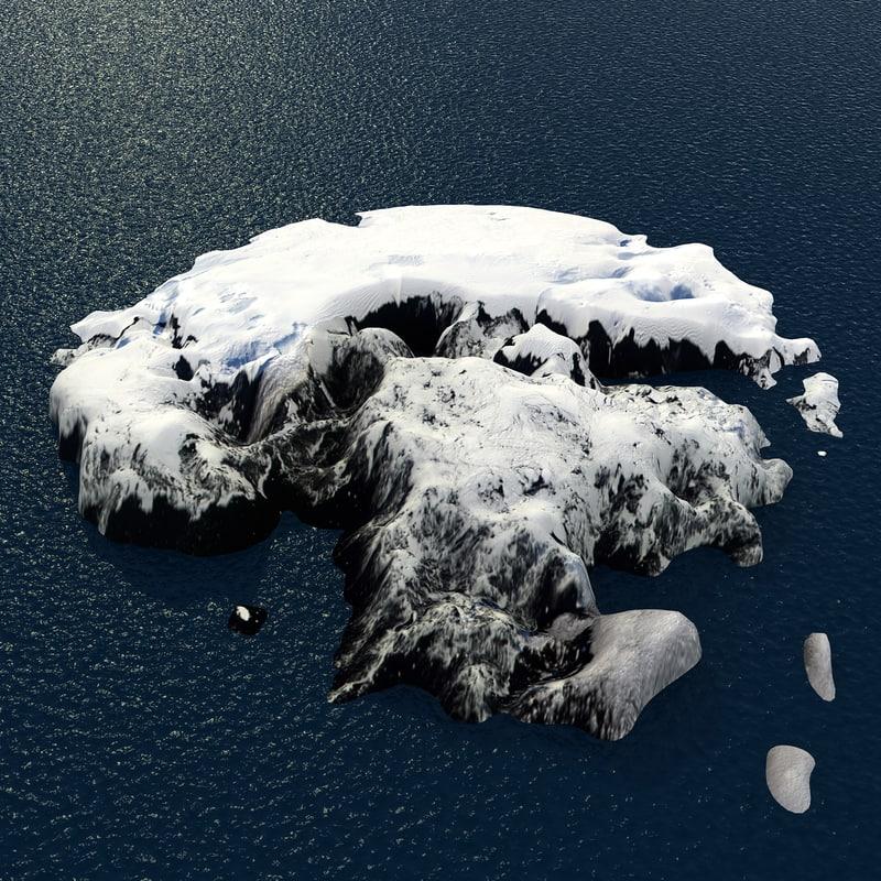 snow island iceberg max
