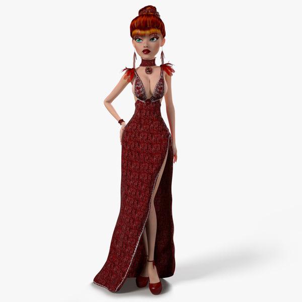 fantasy woman rigged katherina max