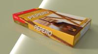 3d model lotte pepero