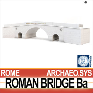 ancient roman bridge ba 3d 3ds