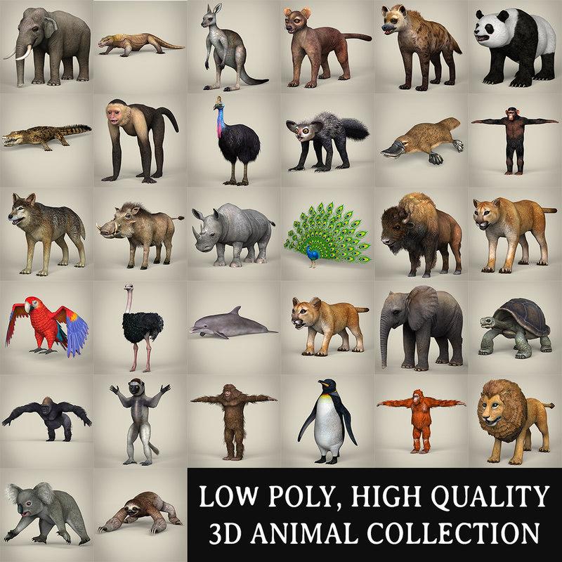 3d animals games model