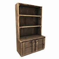 3d old wooden cupboard model