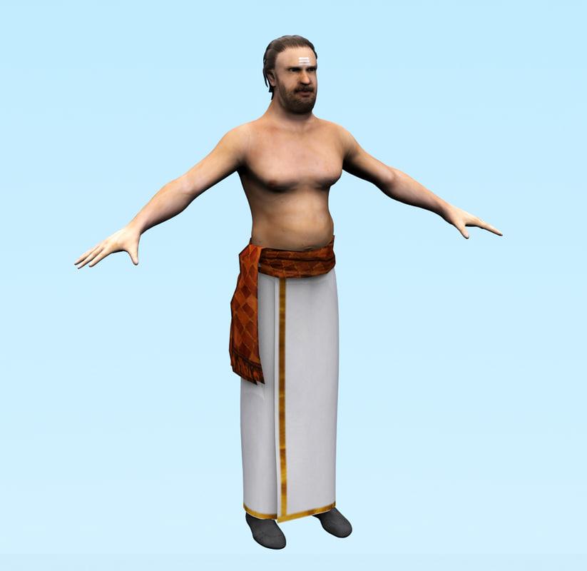 male-indian-3d-character-realistic-human-cartoonic-humanoid 3d model