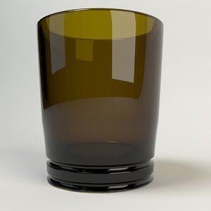 3d drink glass