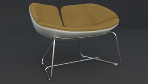 fjord armchair brown iray 3d max