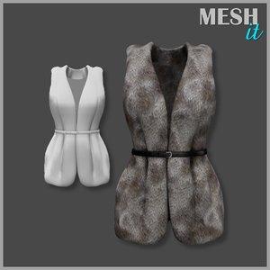 3d vest belt fur