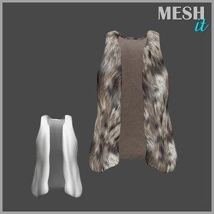 vest fur 3ds
