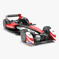 Formula E Race Car Mahindra 3D Model