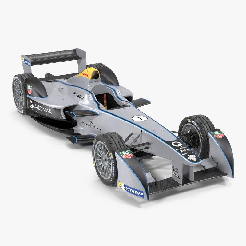 3d formula e race car model