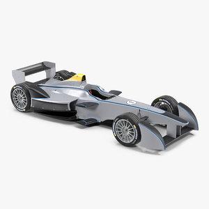 3d model formula e race car