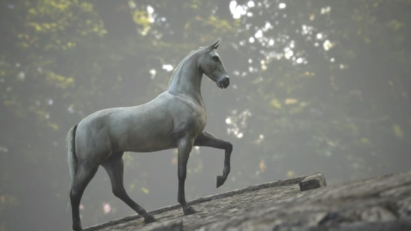 horse rigged animations obj