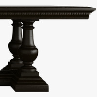 ST. JAMES RECTANGULAR EXTENSION DINING TABLE ANTIQUED BLACK