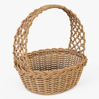 Wicker Basket 04 (Natural Color)
