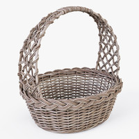 Wicker Basket 04 (Gray Color)