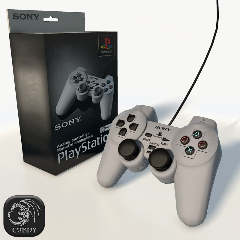 3d model ps1 gamepad