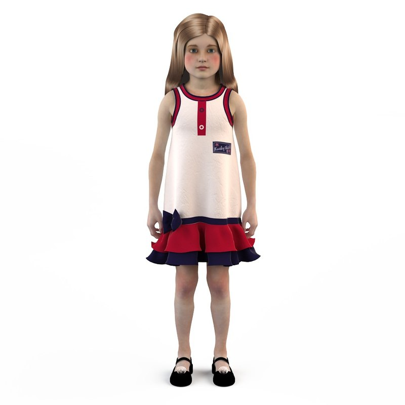 3d fashion baby dressed girls