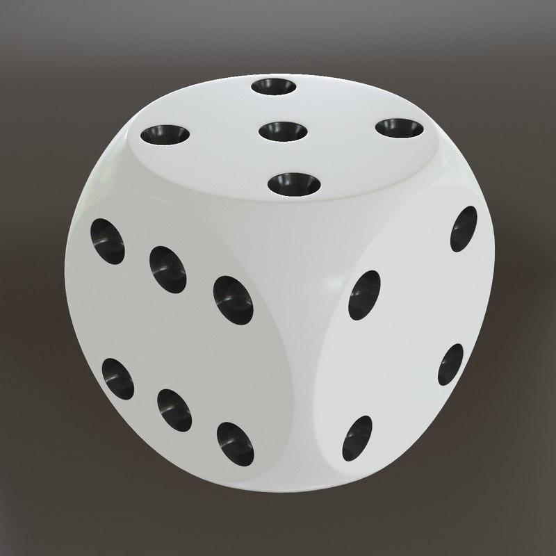 dice modelled 3d model