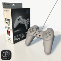 Play Station 1 controller low poly