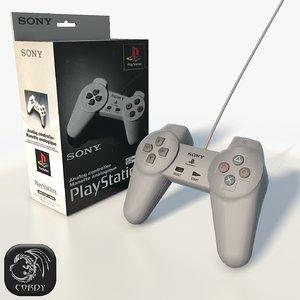 ps1 gamepad box 3d model
