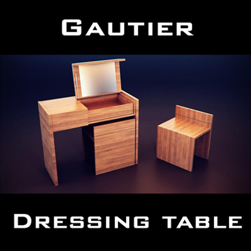 gautier quartz dressing table 3d model