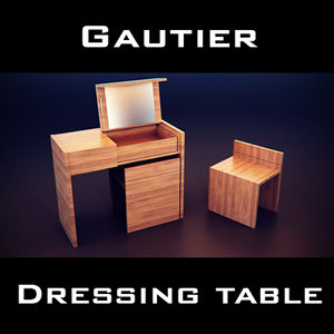 gautier quartz dressing table 3d model