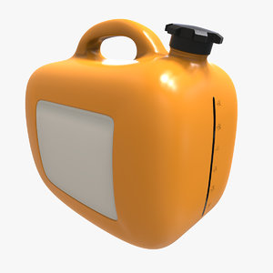 3d graduated gas bottle model