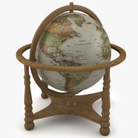 globe desk 3d max