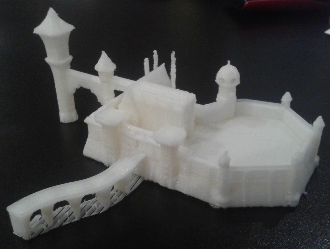 3d model of printable castle printed