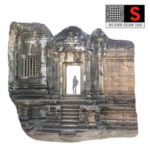 3d model gate temple 16k