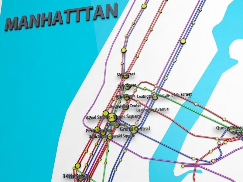 official subway 3d model