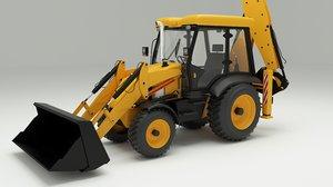 3d backhoe loader model