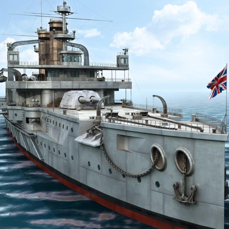 battle ship 3d max