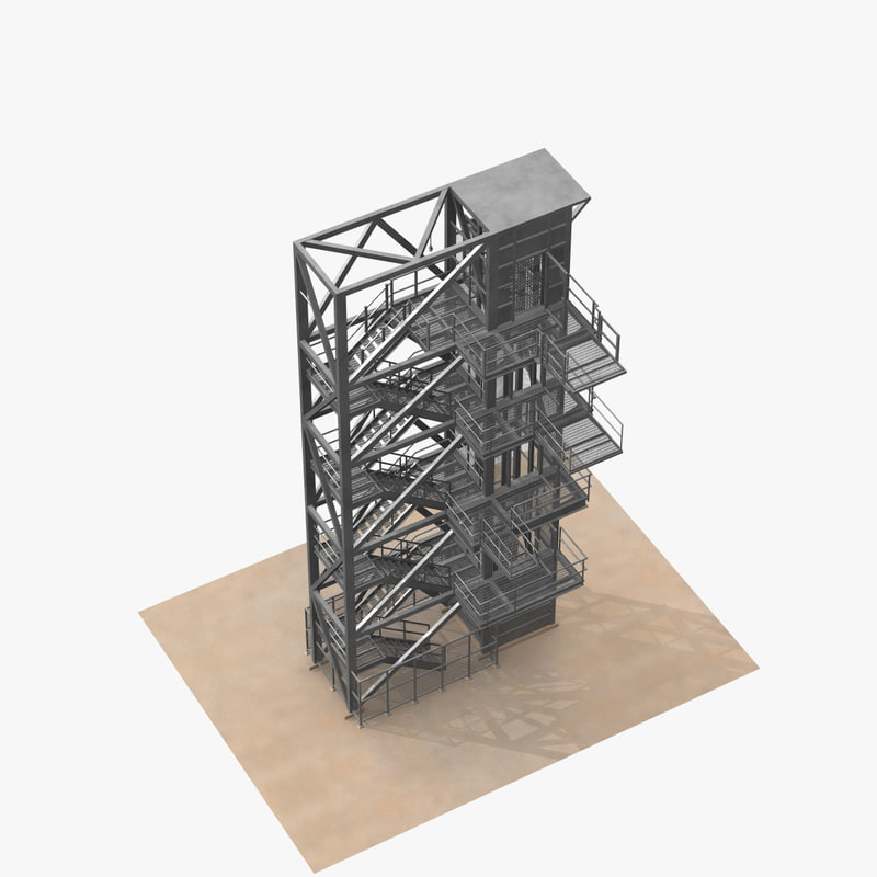 service tower elevator 3d obj