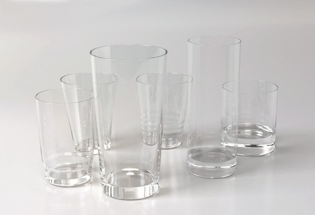 classic glasses 3d model