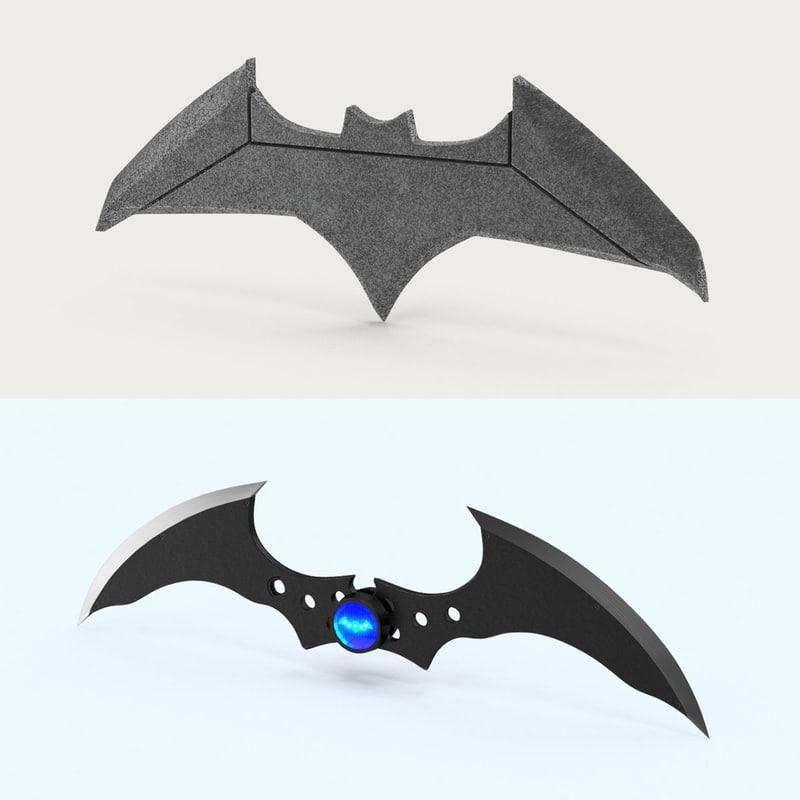 3d model batarang set