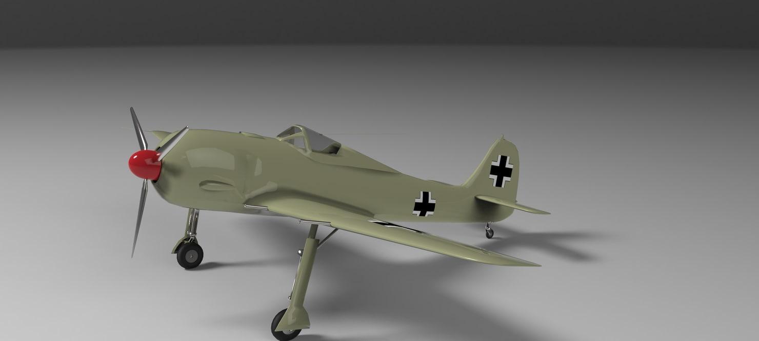 3d model focke wulf fw 190