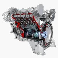 petrol engine 3d max