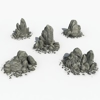 Five pile of Rocks 01