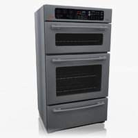 3d model lg double oven