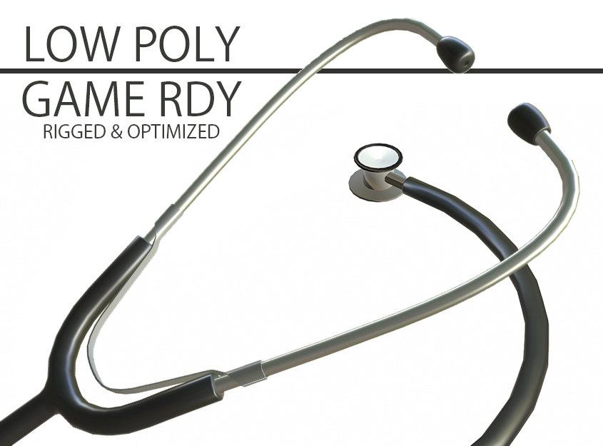 stethoscope rigged lods obj