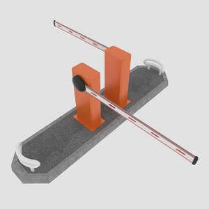 3d model road barrier