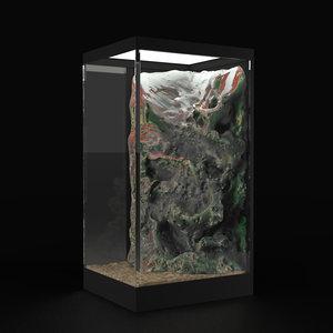 rock aquarium 3d max