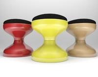 kartell rocchetto stool castiglioni 3d model