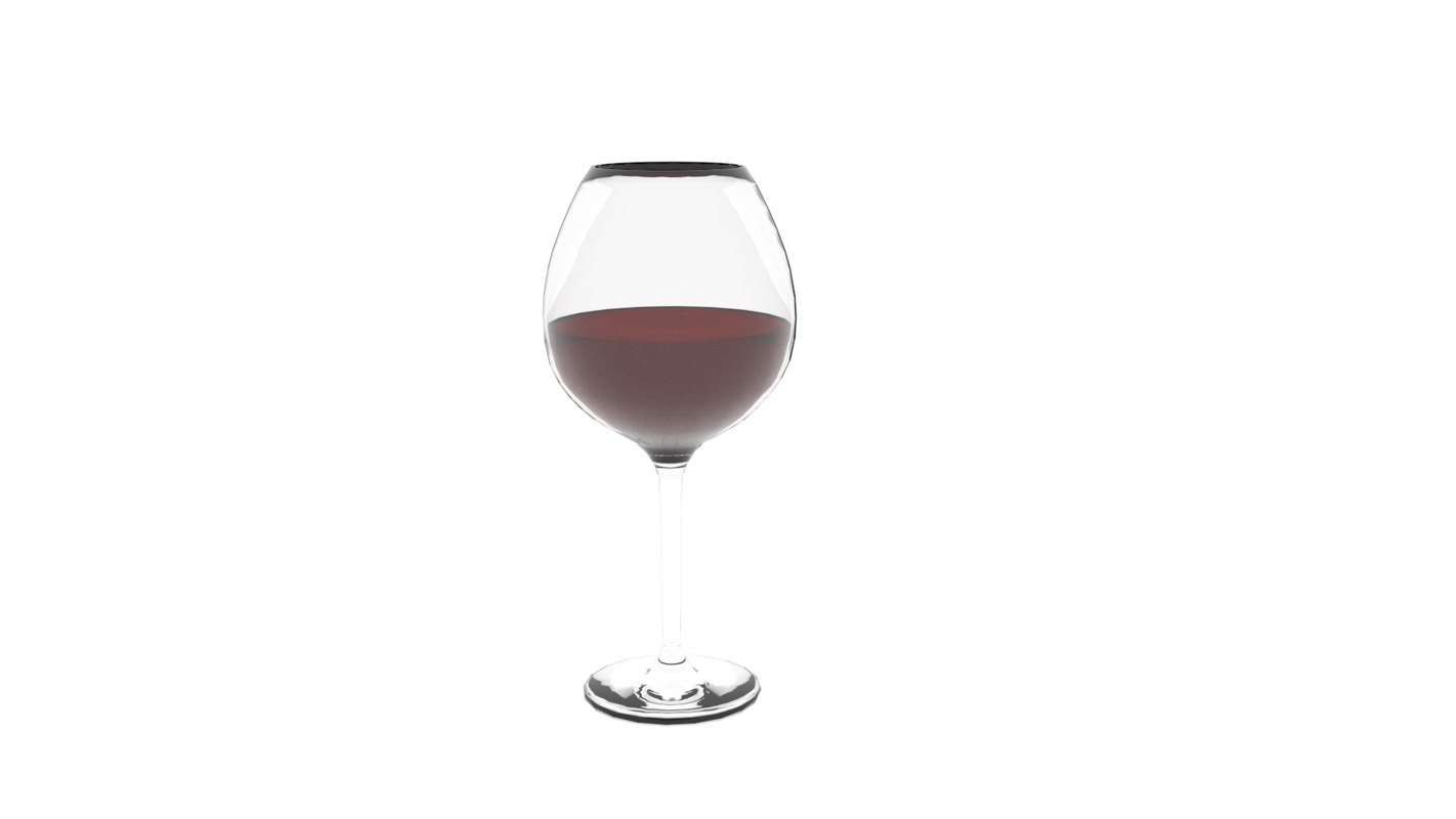 3d model red wine