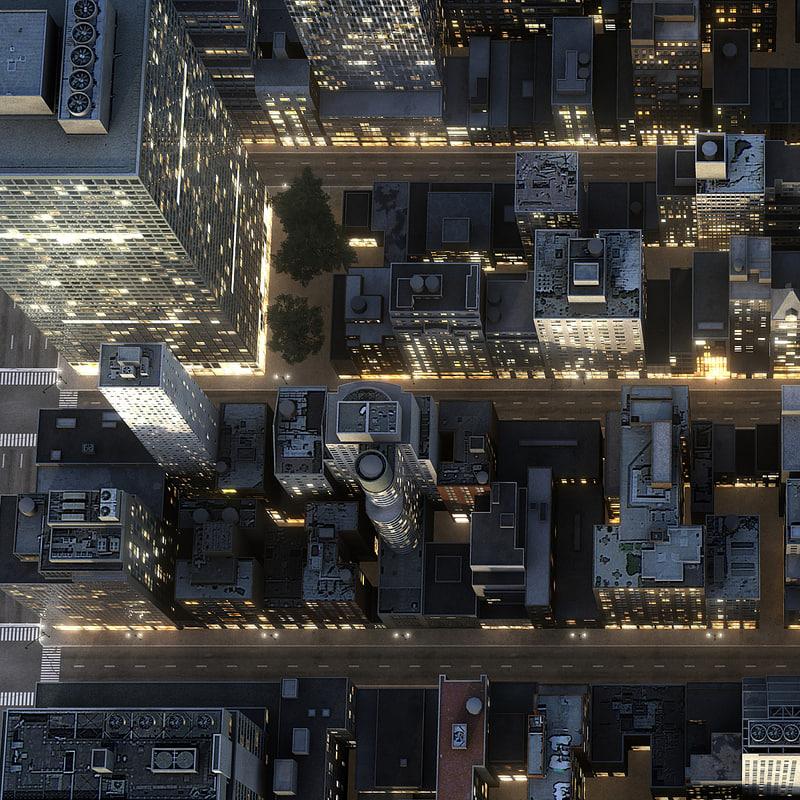 new york manhattan district 3d max