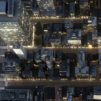 new york manhattan district 3d max