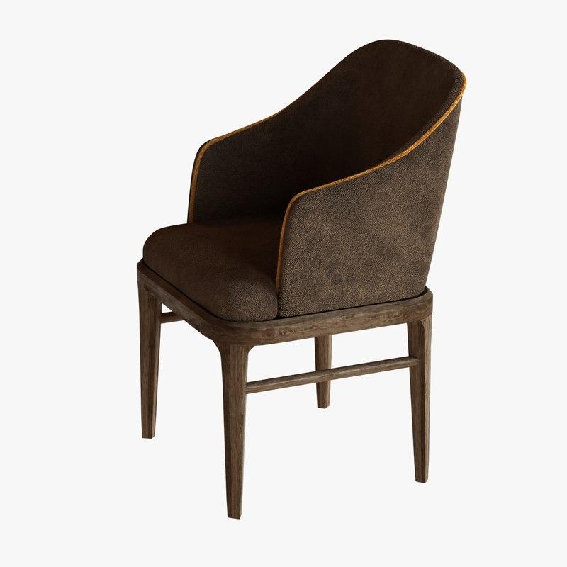 chair arm blake seat 3ds