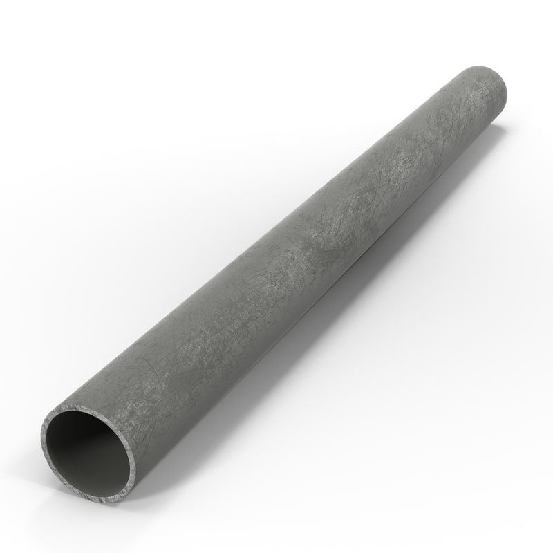 3d model iron pipe 3