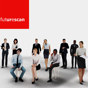 businessman human character 3d model