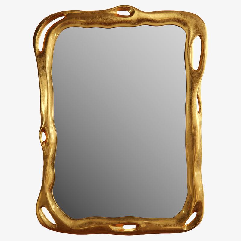 3d model biomorphic mirror